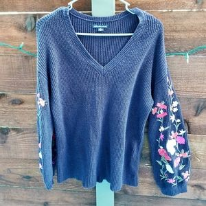 American Eagle Outfitters Chunky Floral Sweater